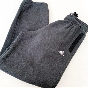 Adidas NBA Basketball Warm-Up Sweatpants Gray Larg